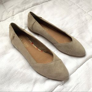 Toms Suede Pointed Tow Flats
